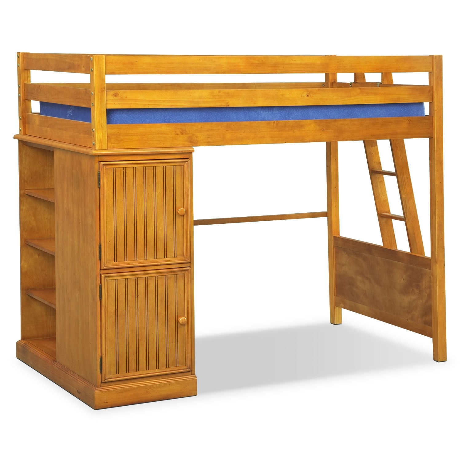 Kids Furniture - Colorworks Loft Bed - Honey Pine