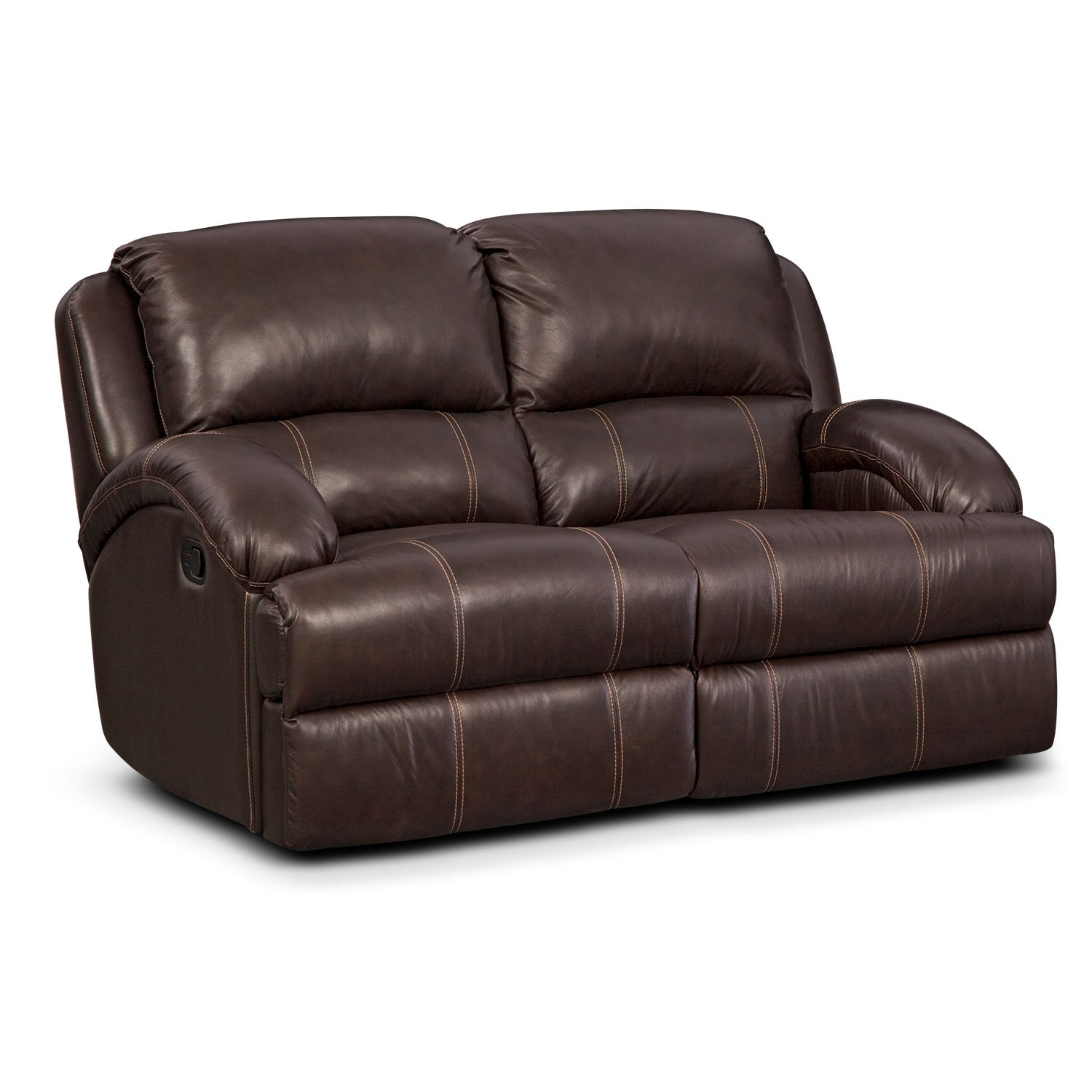 Nolan Leather Dual Reclining Loveseat American Signature Furniture