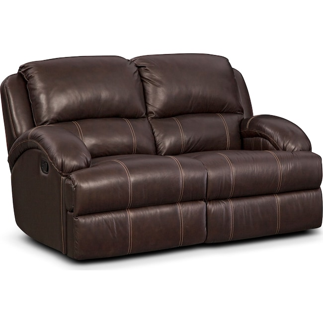 Living Room Furniture - Nolan Dual Reclining Loveseat - Chocolate