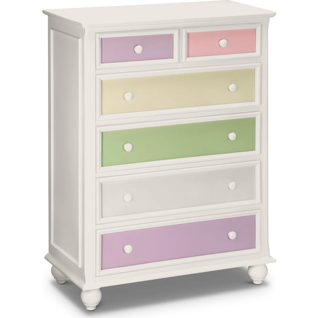 Kids Furniture - Colorworks Chest - White