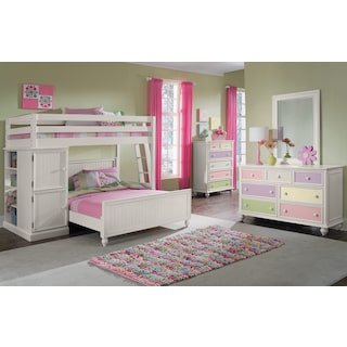 Colorworks Loft Bed - White
