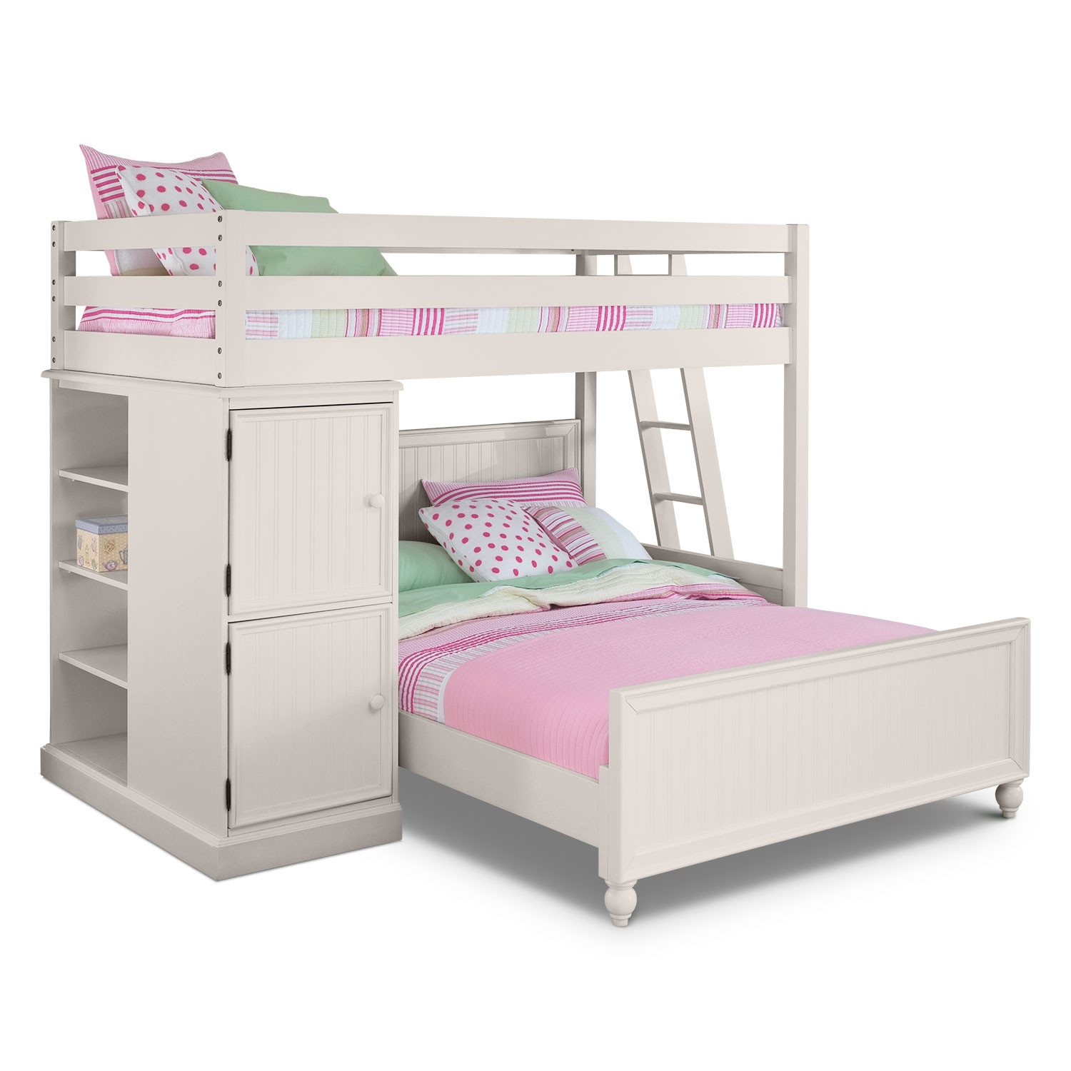 68 Best Images About Loft Beds On Pinterest: Colorworks White II Loft Bed With Full Bed