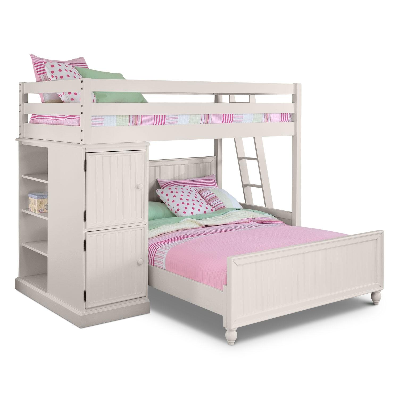 Loft bunk beds american signature furniture for Loft americain