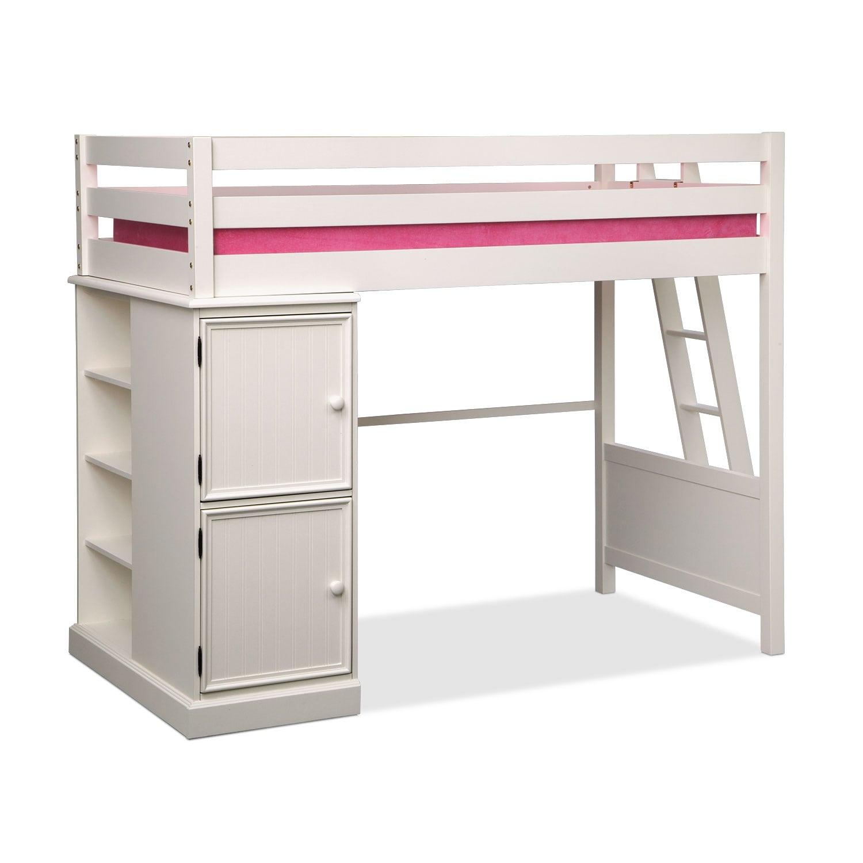 Kids Furniture - Colorworks White II Loft Bed