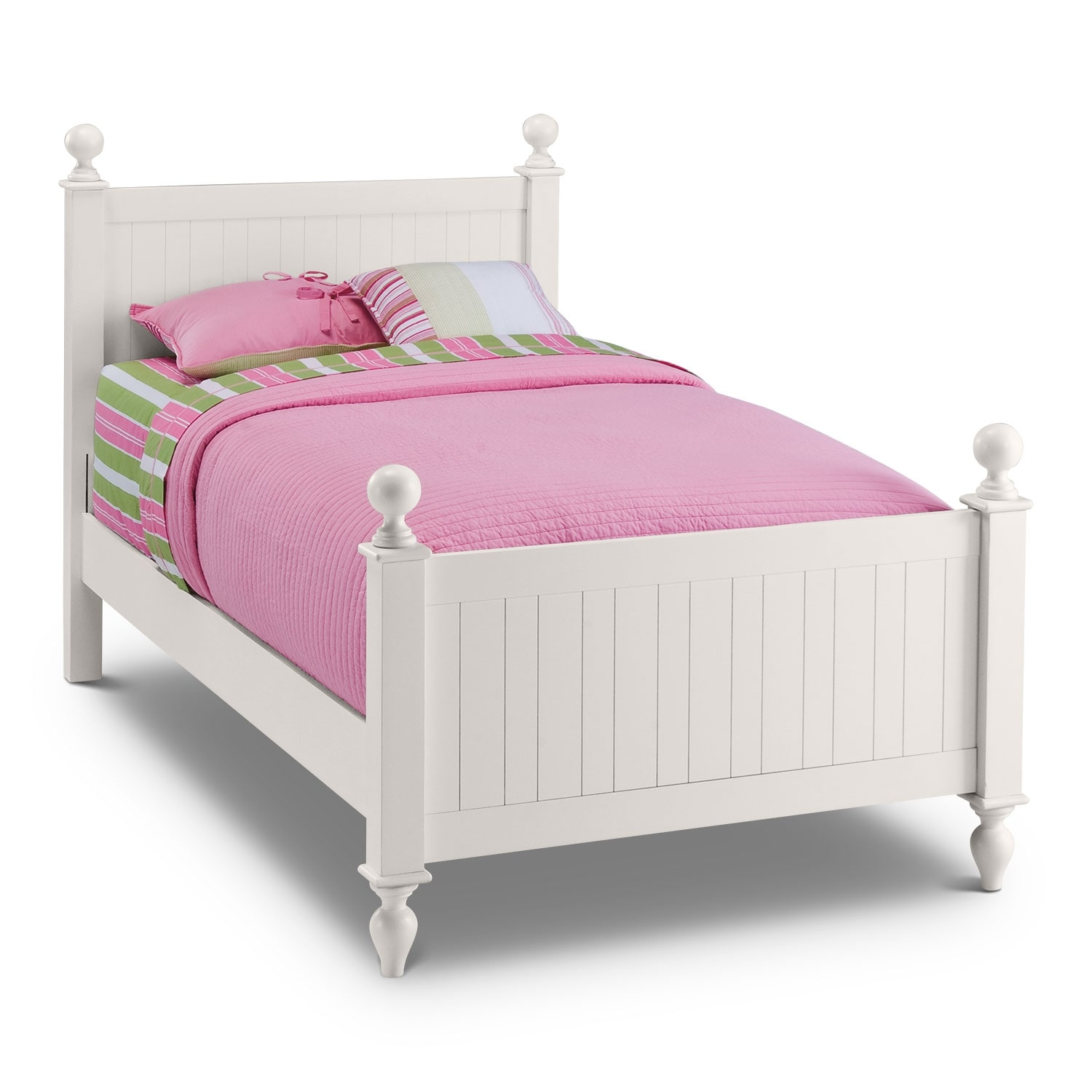 Colorworks Twin Bed   White