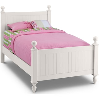 Colorworks Twin Poster Bed
