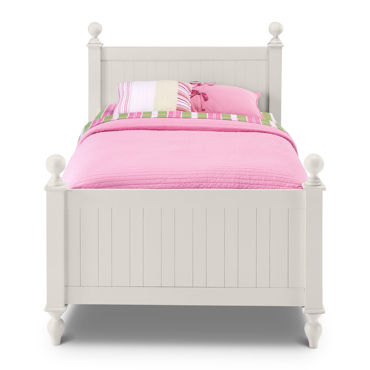 colorworks twin bed white american signature furniture