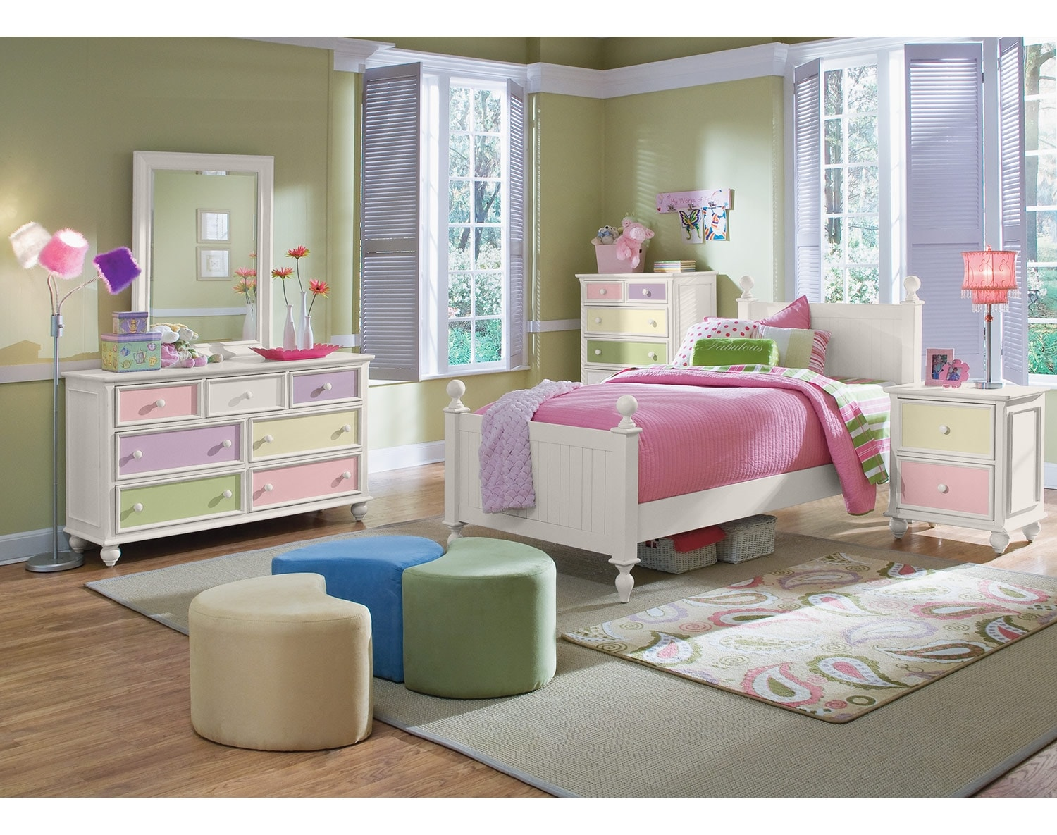 The Colorworks Panel Bedroom Collection- White