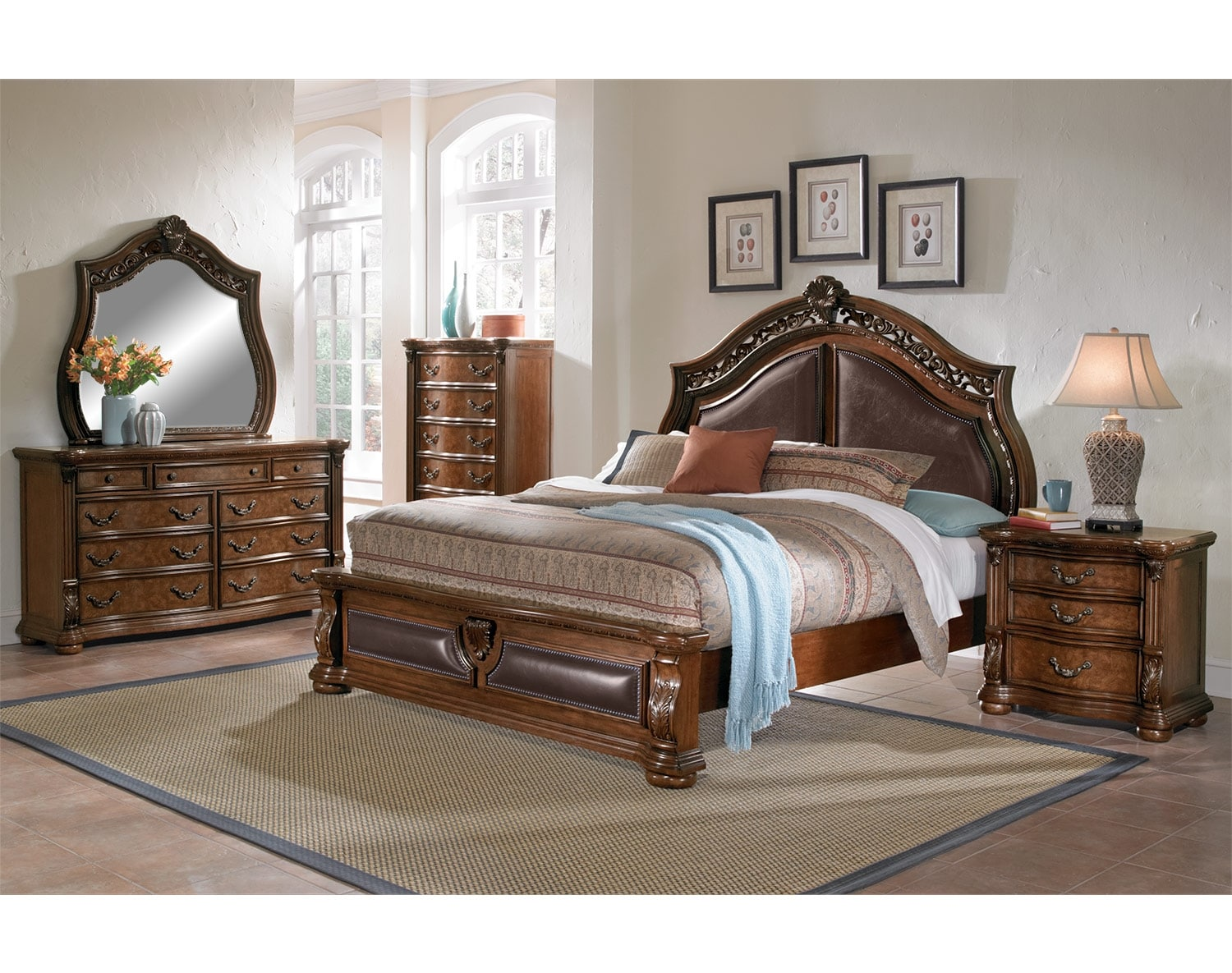 american signature bedroom sets the morocco collection pecan american signature furniture 14015