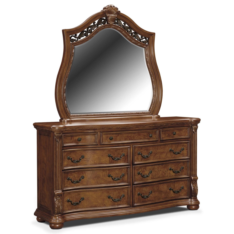 Morocco 6-Piece King Bedroom Set - Pecan | American Signature ...