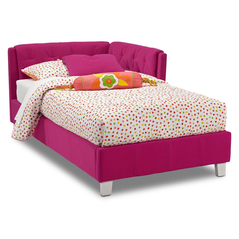 Jordan Twin Corner Bed   Pink
