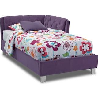 Jordan Twin Corner Bed - Purple