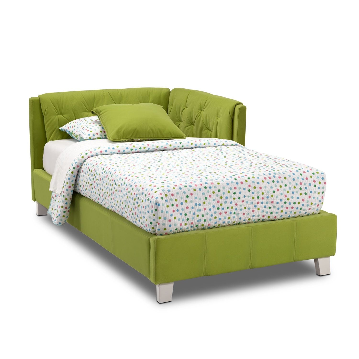 Jordan Twin Corner Bed Green American Signature Furniture