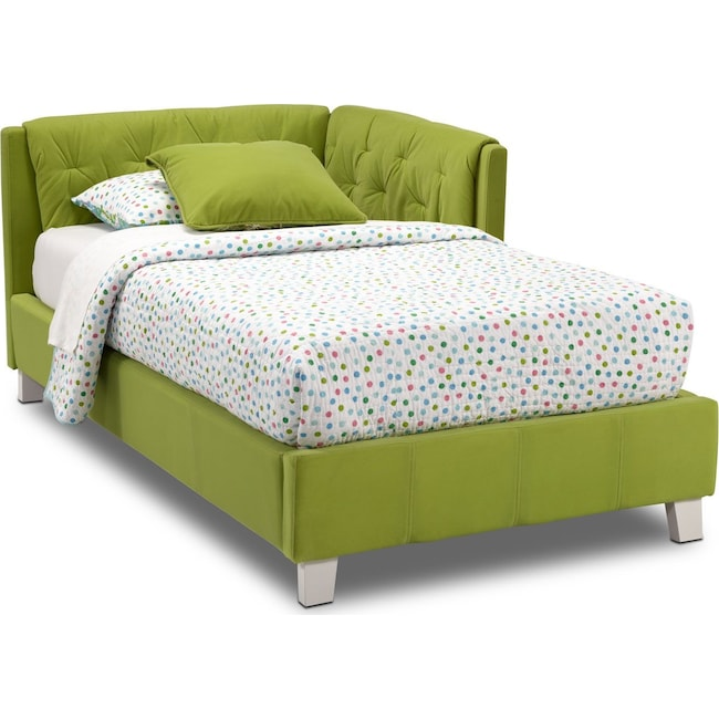 Kids Furniture - Jordan Twin Corner Bed - Green