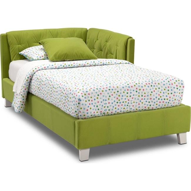 Kids Furniture - Jordan Twin Corner Bed - Green