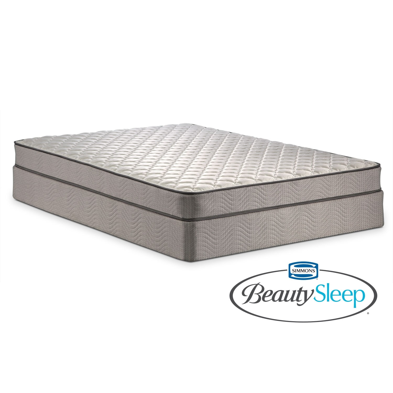 Mattresses and Bedding - Oakdale Firm Queen Mattress and Low-Profile Foundation Set