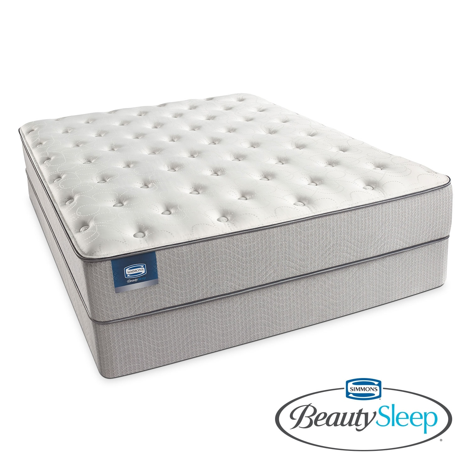 Mattresses and Bedding - Arthur Avenue Plush Twin Mattress/Foundation Set