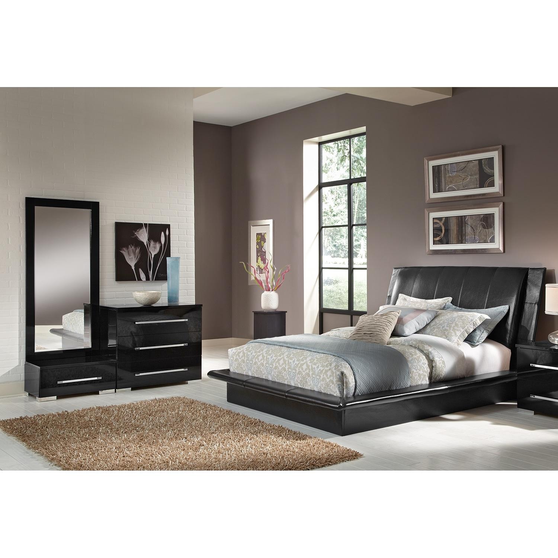 Bedroom Furniture - Dimora Black 5 Pc. Queen Bedroom (Alternate)