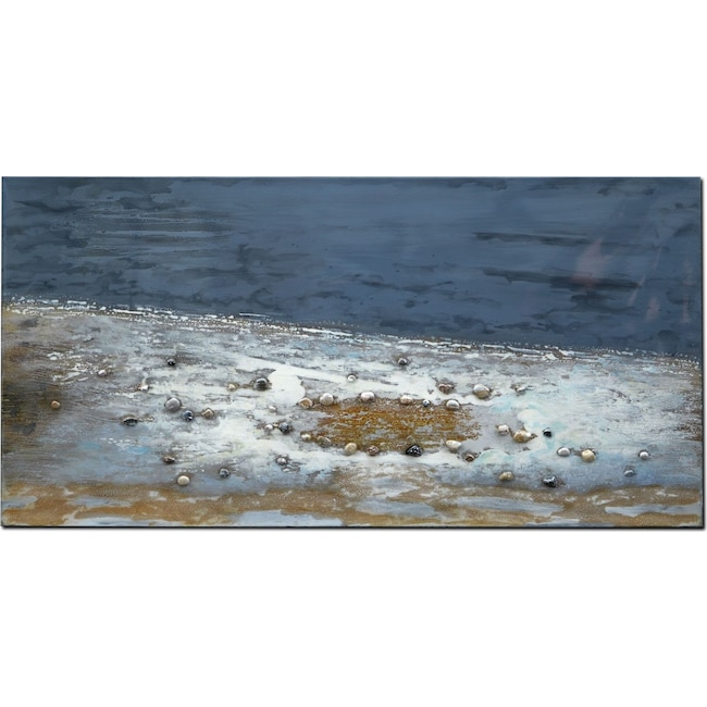 Home Accessories - Ocean Rocks Mixed Media Painting
