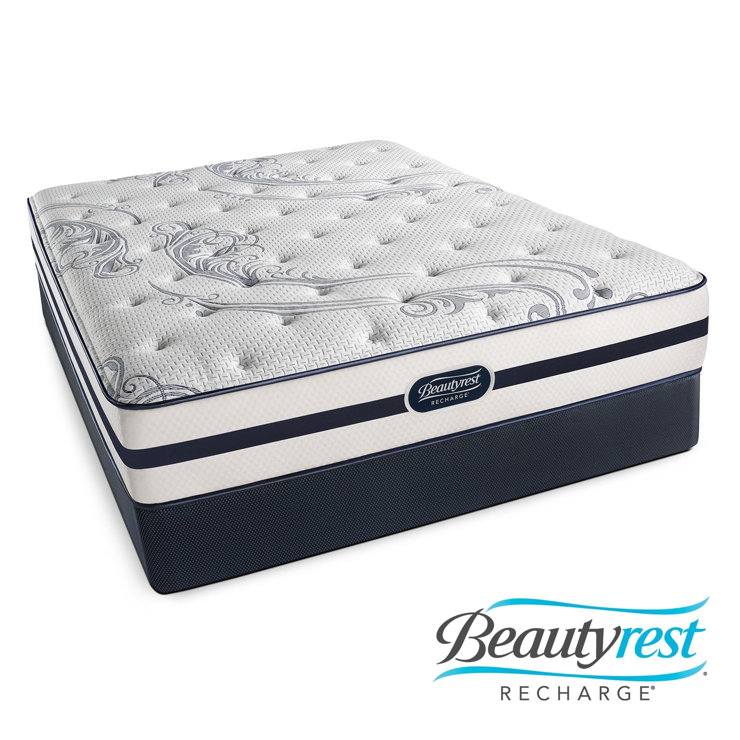 Mattresses and Bedding - Alisa Luxury Firm King Mattress/Split Low-Profile Foundation Set
