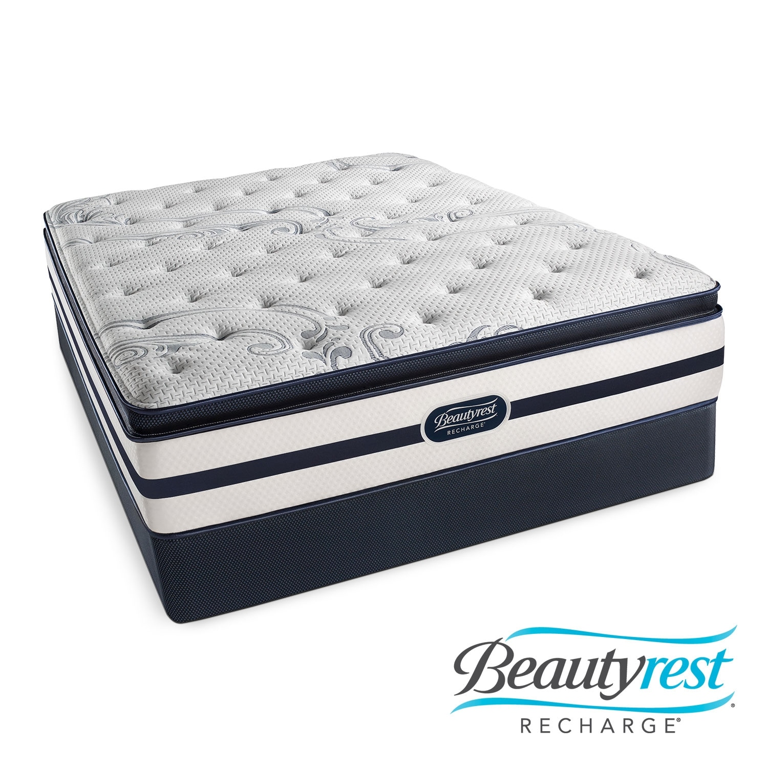 Mattresses and Bedding - Alisa Plush PT California King Mattress/Split Foundation Set