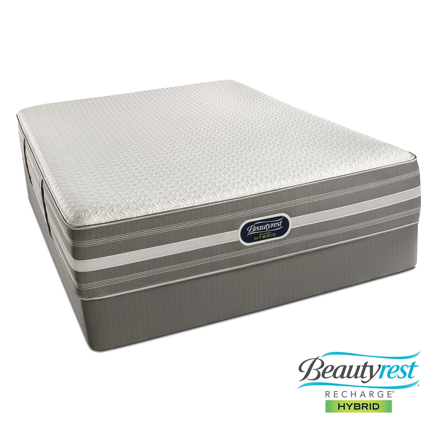 Lamour Plush Queen Mattress and Low-Profile Foundation Set