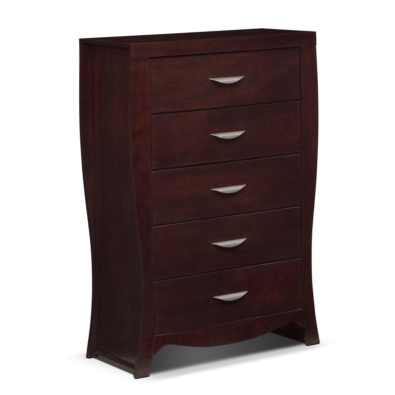 Bedroom Furniture - Jaden Chest - Merlot