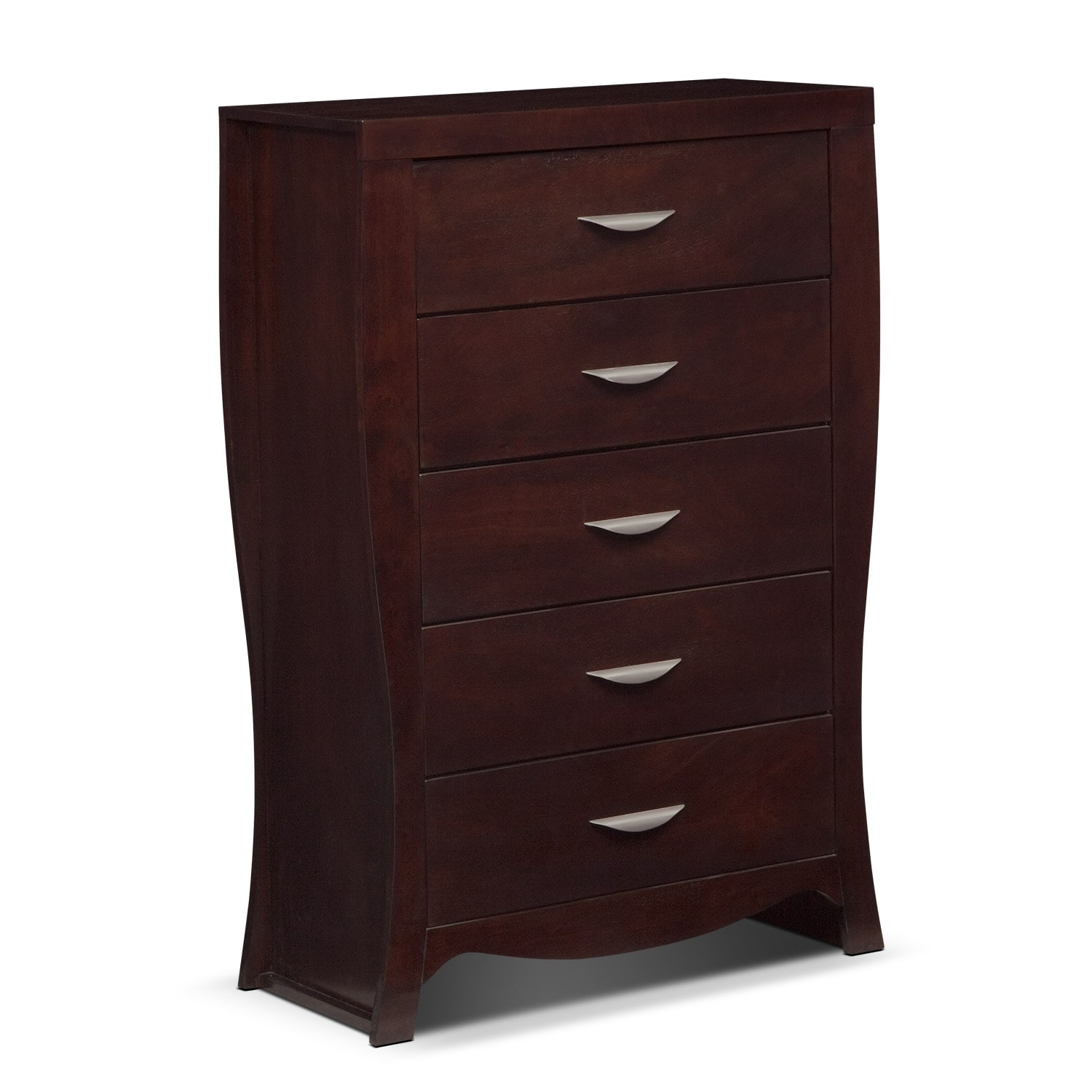 Bedroom Furniture - Jaden Chest - Merlot
