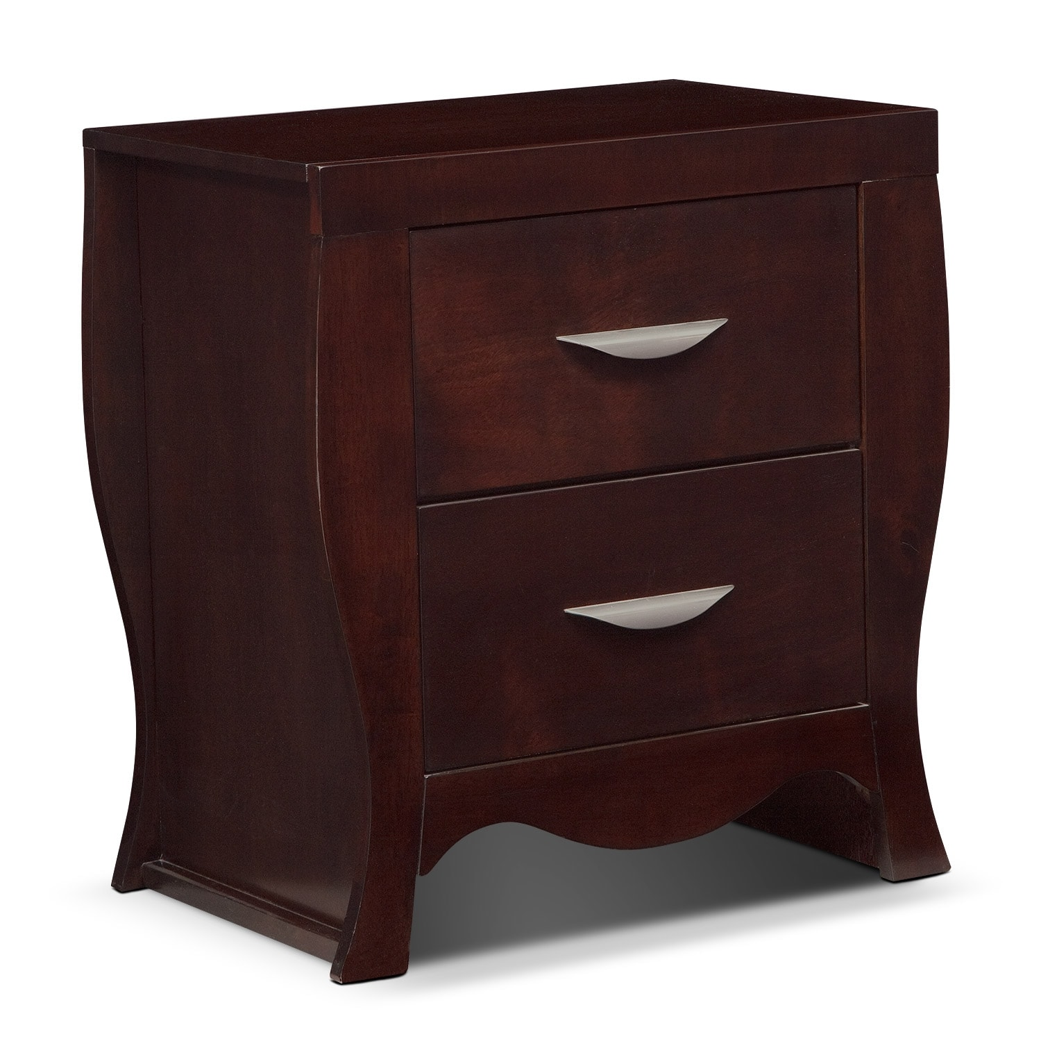 Bedroom Furniture - Jaden Nightstand - Merlot