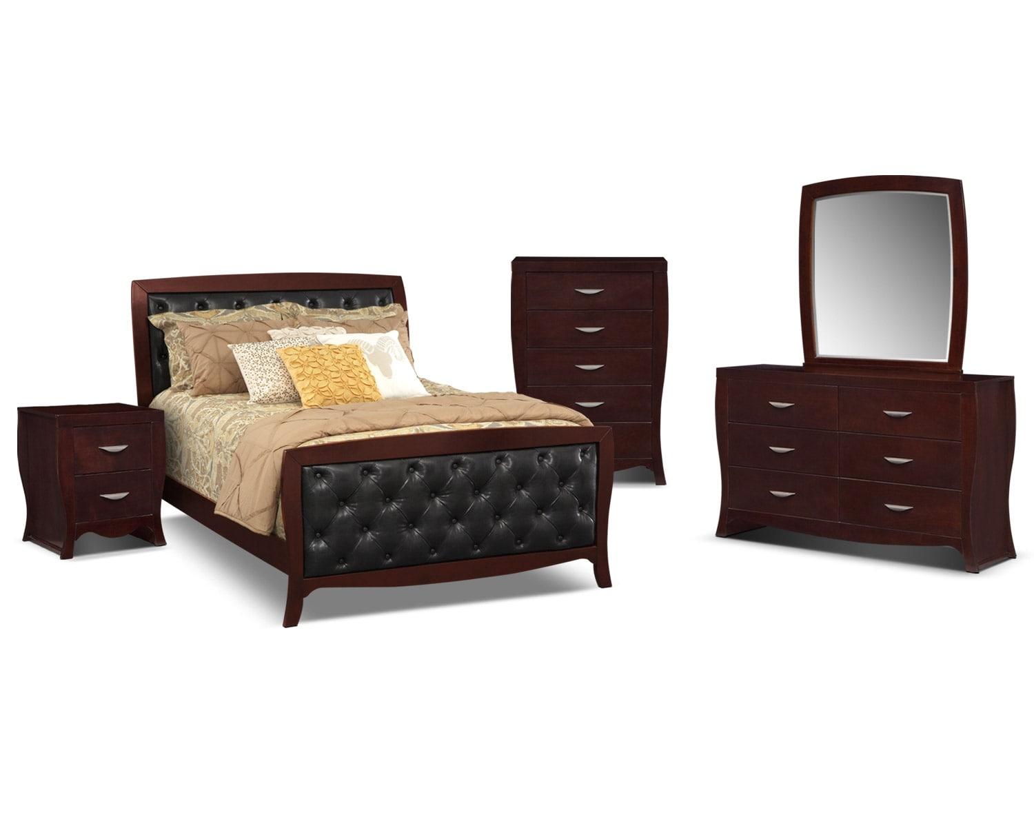 The Jaden Tufted Bedroom Collection - Merlot