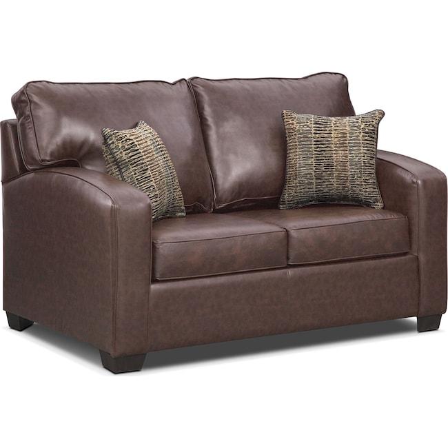 Brookline Twin Innerspring Sleeper Sofa Brown American Signature Furniture