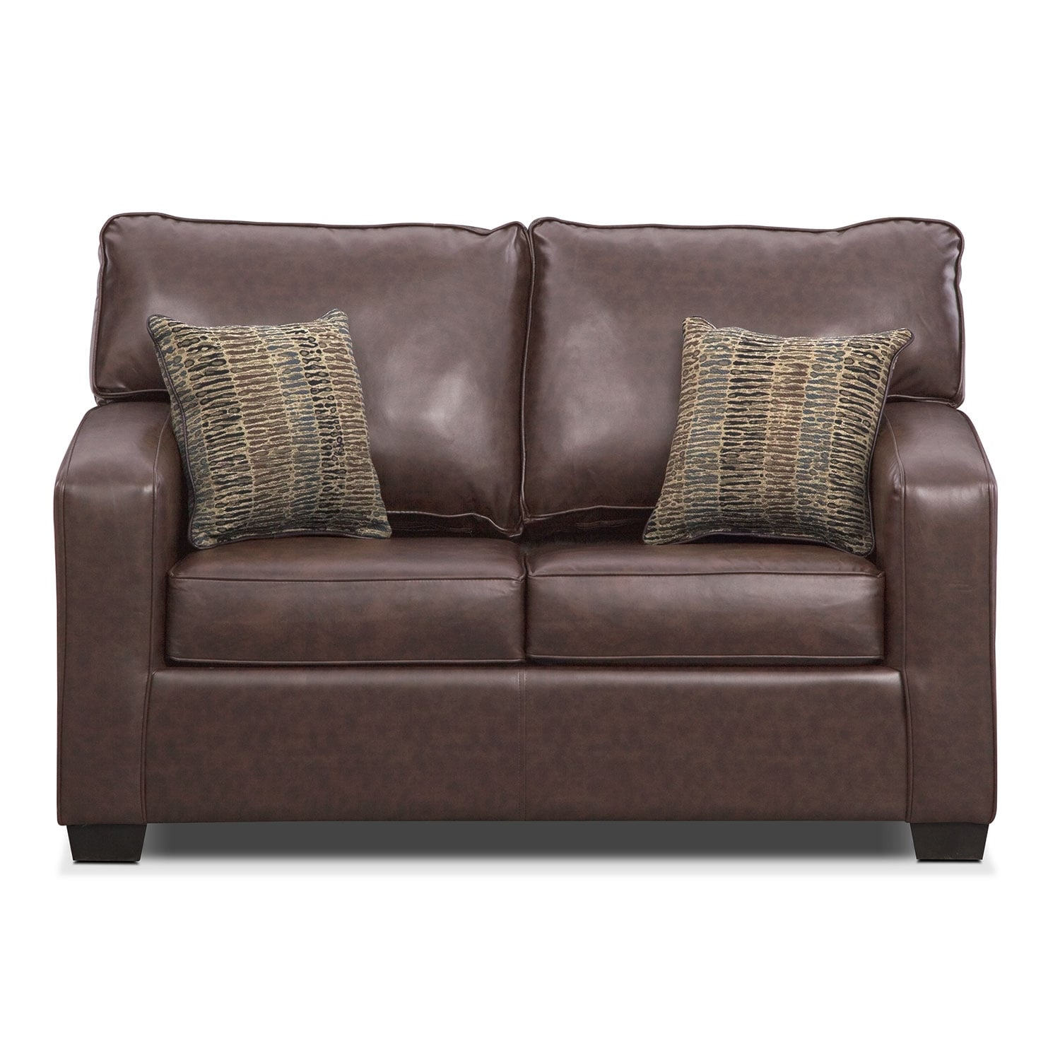 Brookline Twin Innerspring Sleeper Sofa Brown American