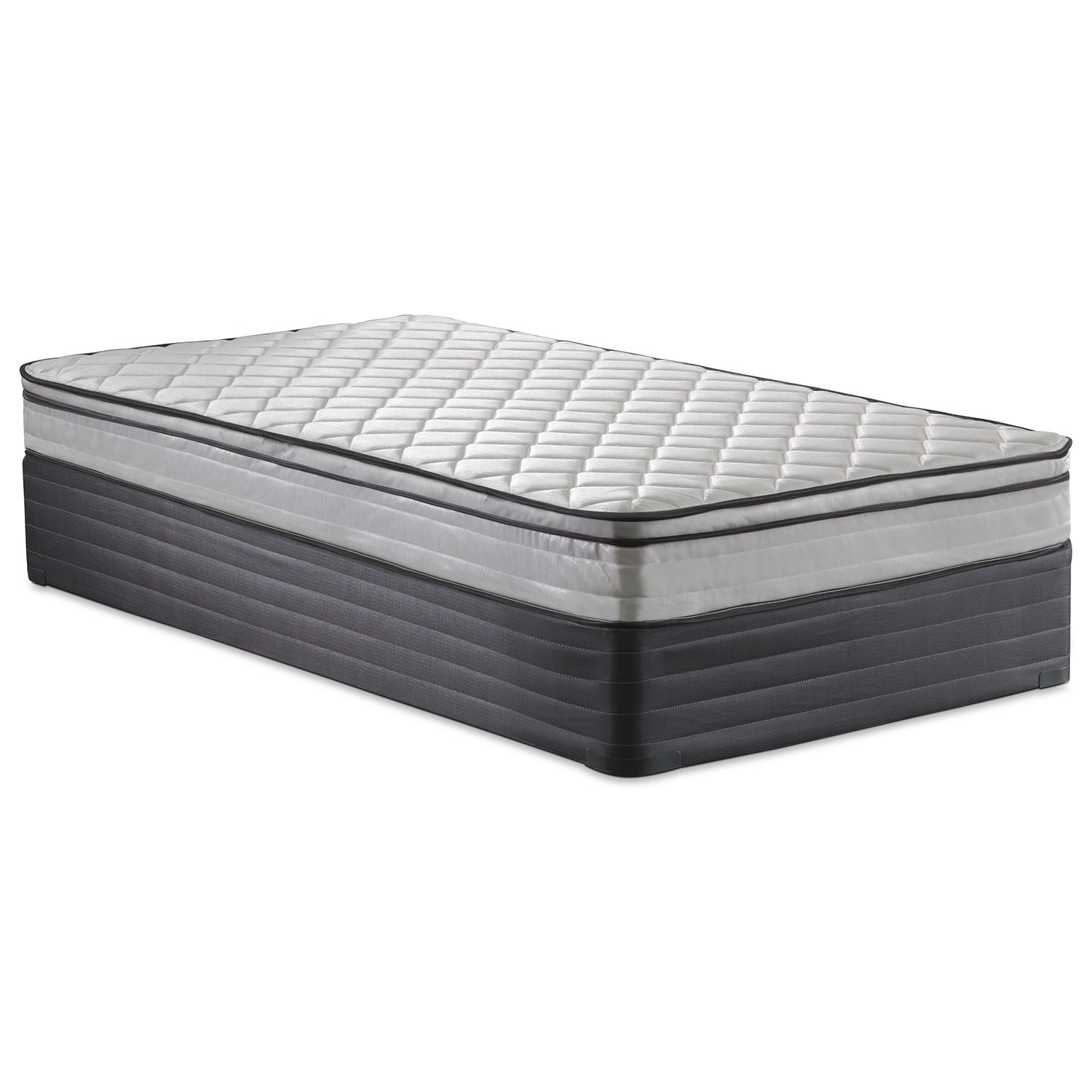 Mattresses and Bedding - Mirage Medium Firm Twin Mattress and Foundation Set