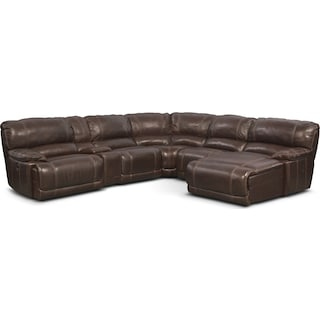 St. Malo 6-Piece Power Reclining Sectional with Chaise