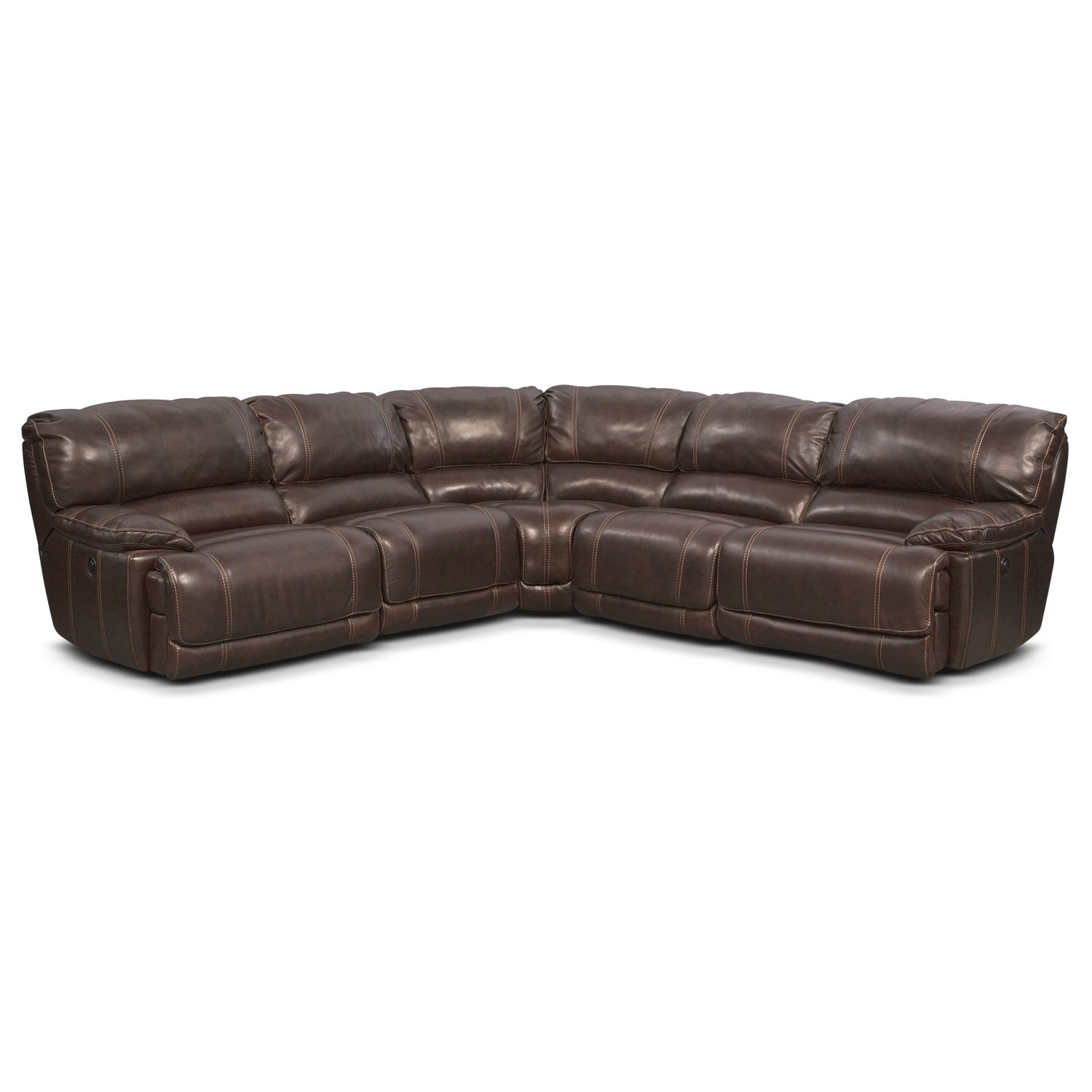 St. Malo 5-Piece Right-Facing Power Reclining Sectional - Brown