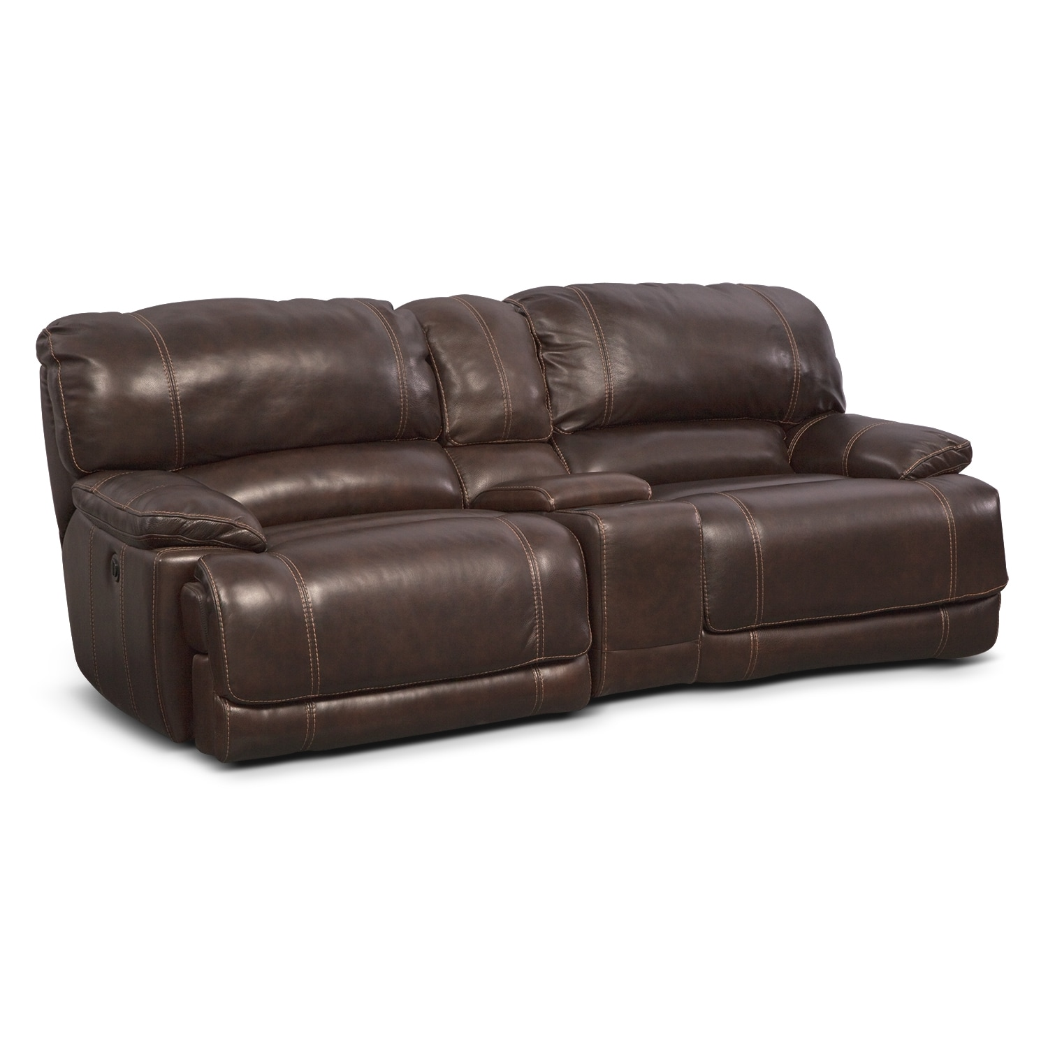St. Malo 3 Pc. Power Reclining Sofa with Console