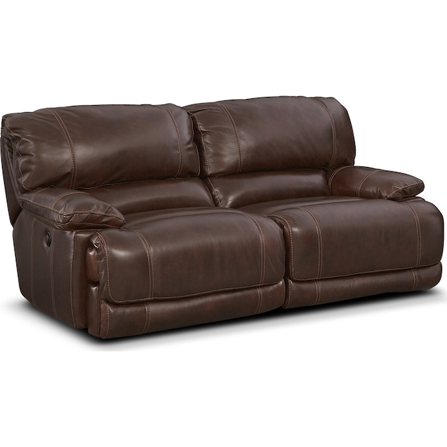 Living Room Furniture - St. Malo Power Reclining Sofa - Brown