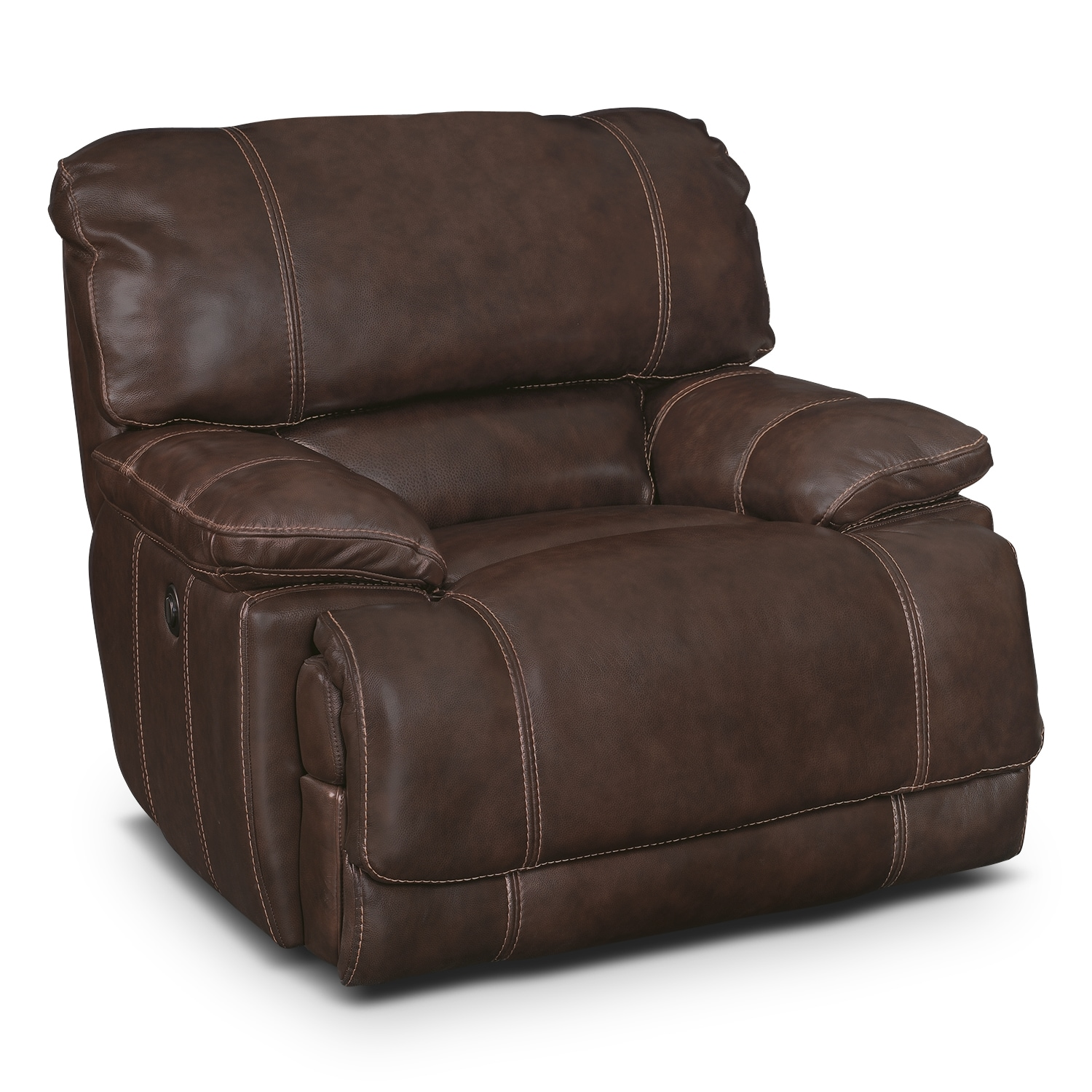Living Room Furniture - St. Malo Power Recliner - Brown