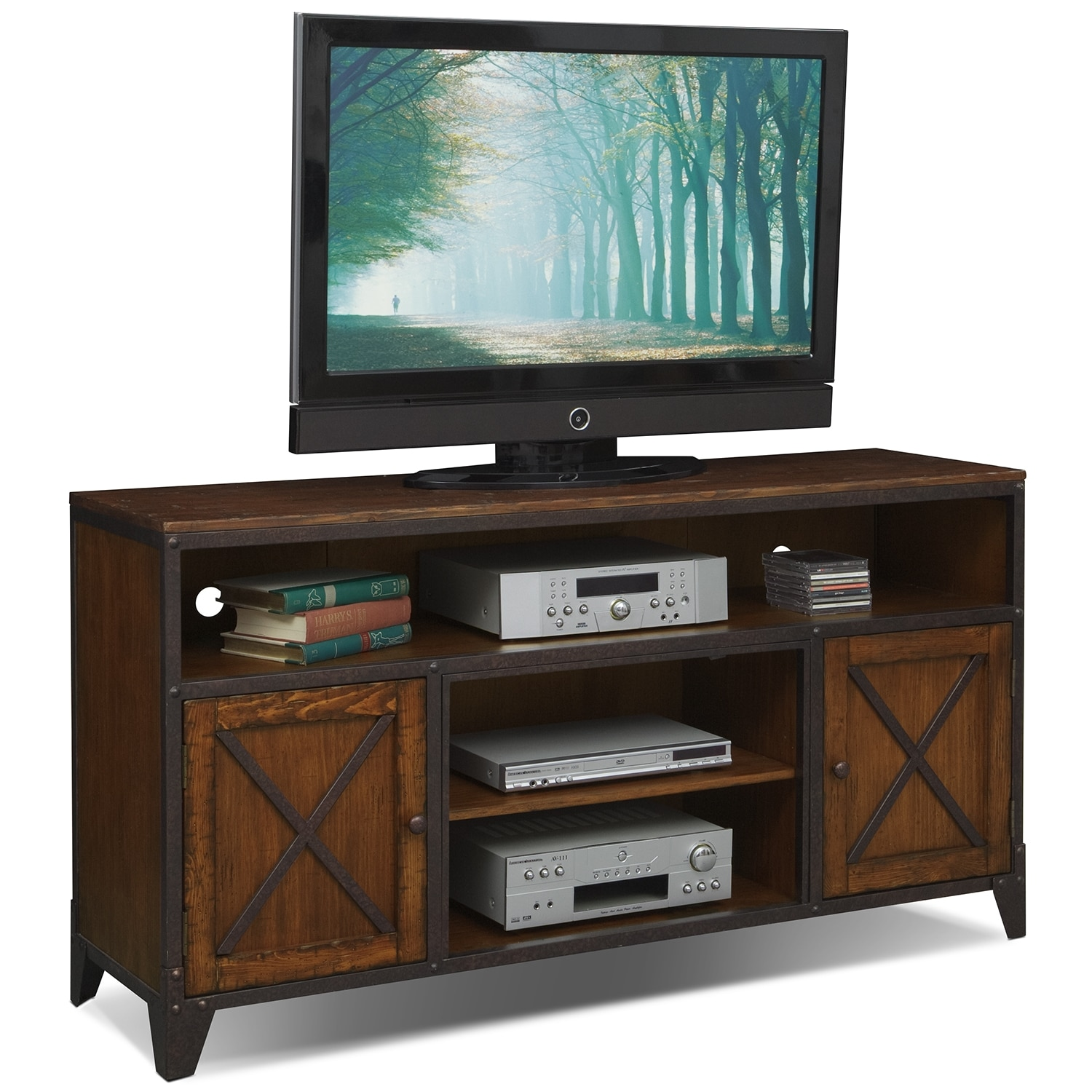 Shortline TV Stand - Distressed Pine