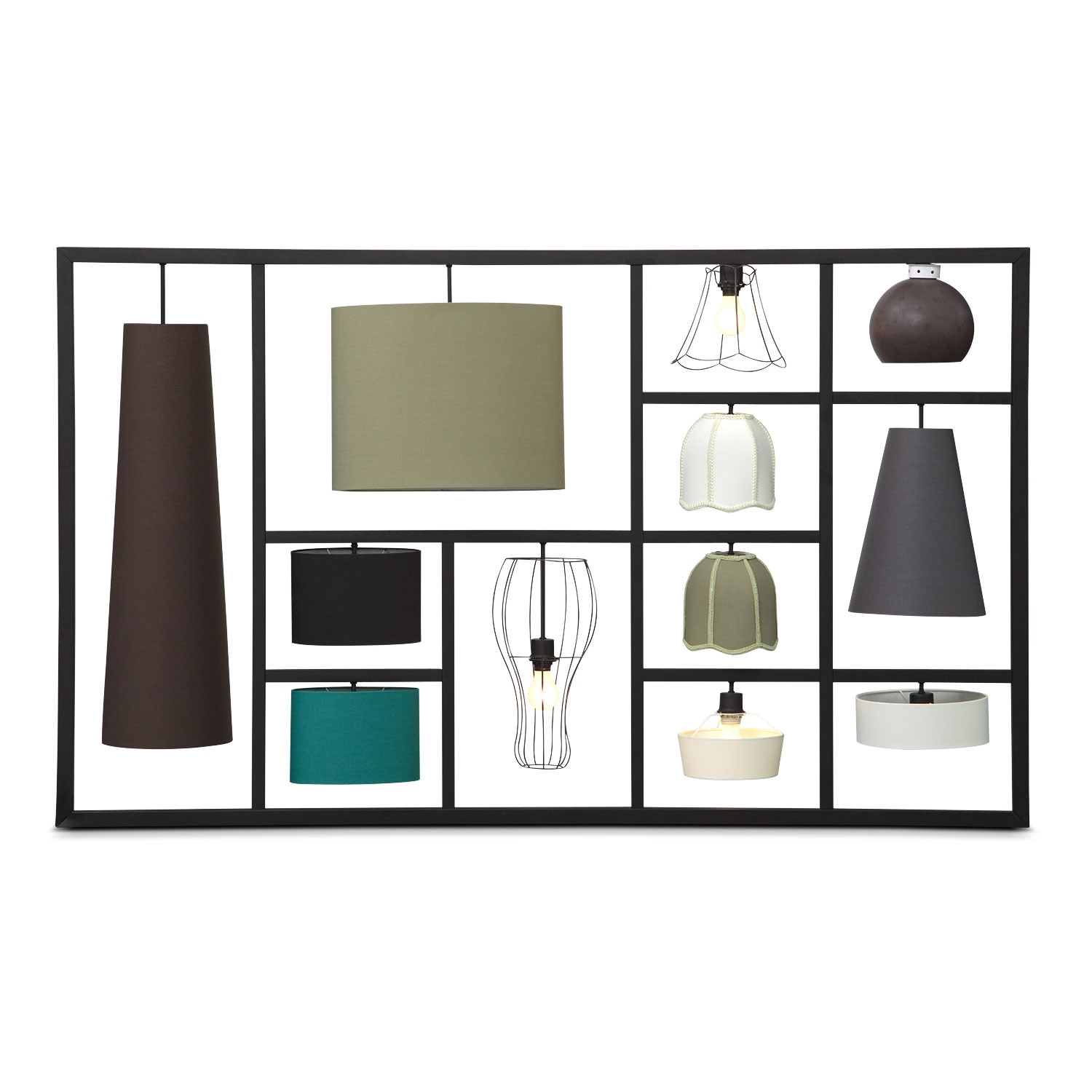 Home Accessories - 12 Lamps Wall Décor