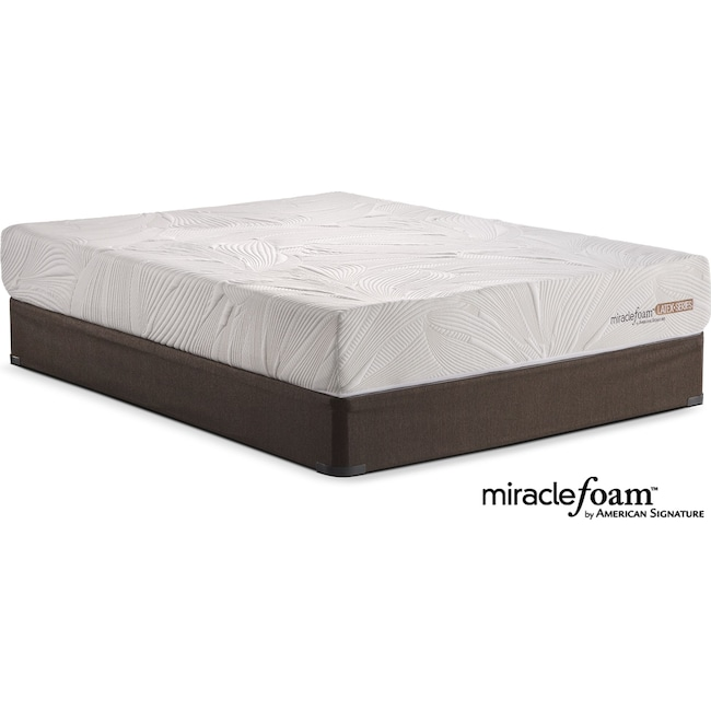 Mattresses and Bedding - Tranquil Queen Mattress and Foundation Set