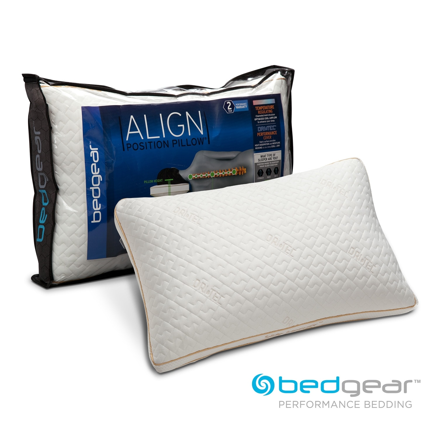 Align II Jumbo/Queen Side Sleeper Pillow