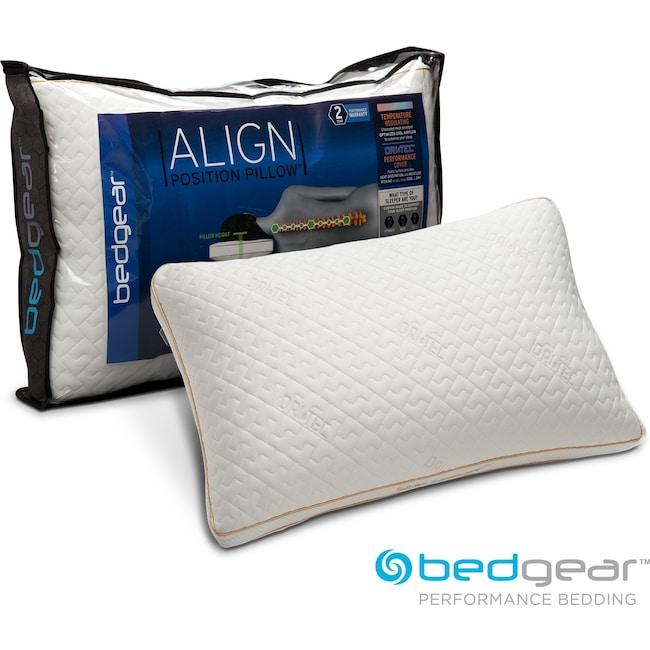 Mattresses and Bedding - Align II Jumbo/Queen Side Sleeper Pillow