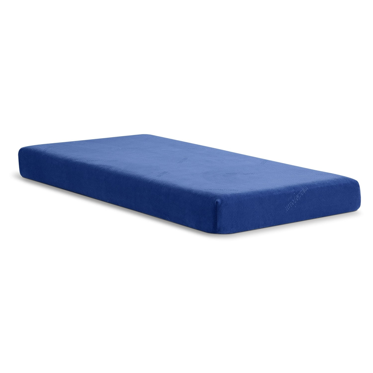 Renew Blue Medium Firm Twin Mattress And Foundation Set Blue American Signature Furniture