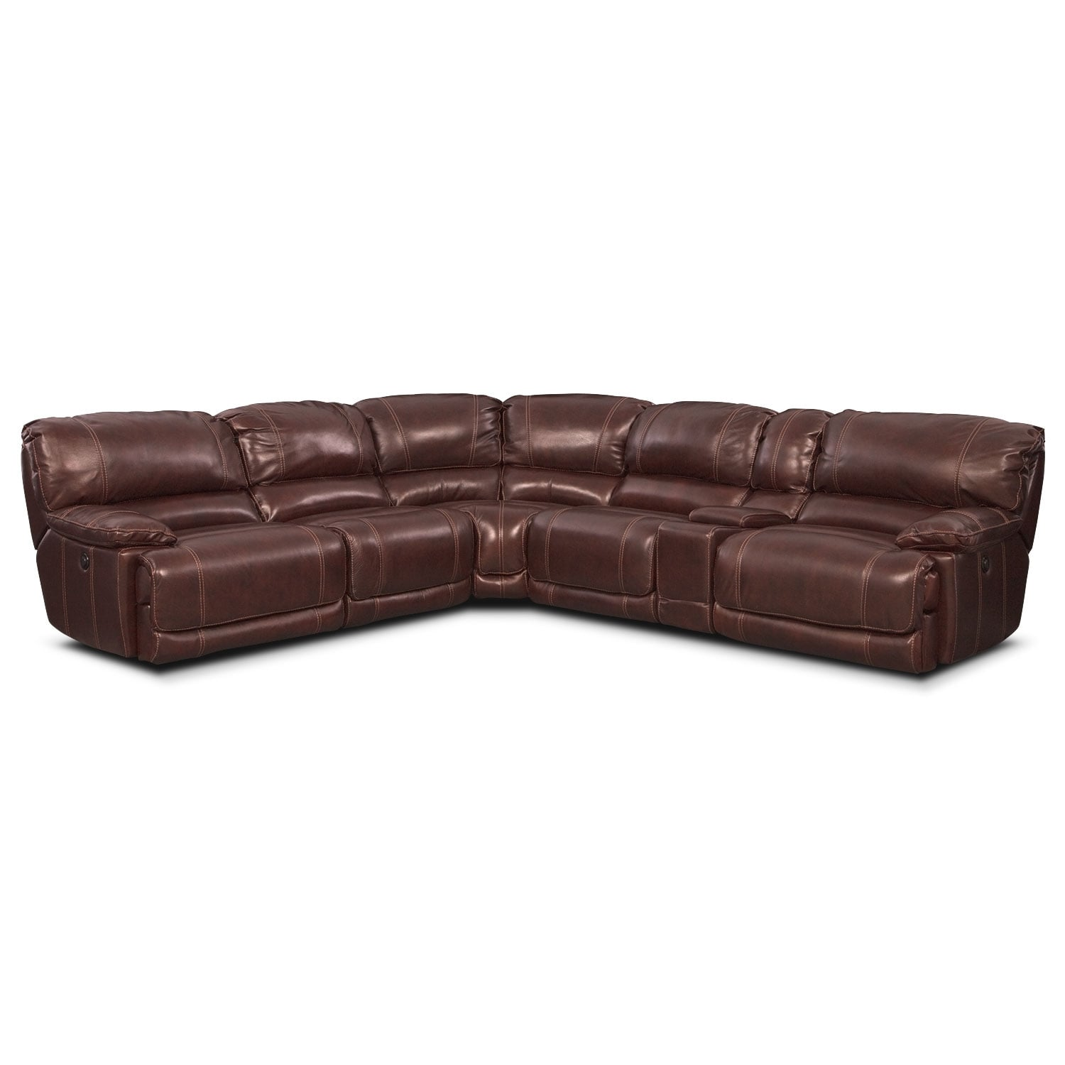 Living Room Furniture - St. Malo III 6 Pc. Power Reclining Sectional (Alternate)