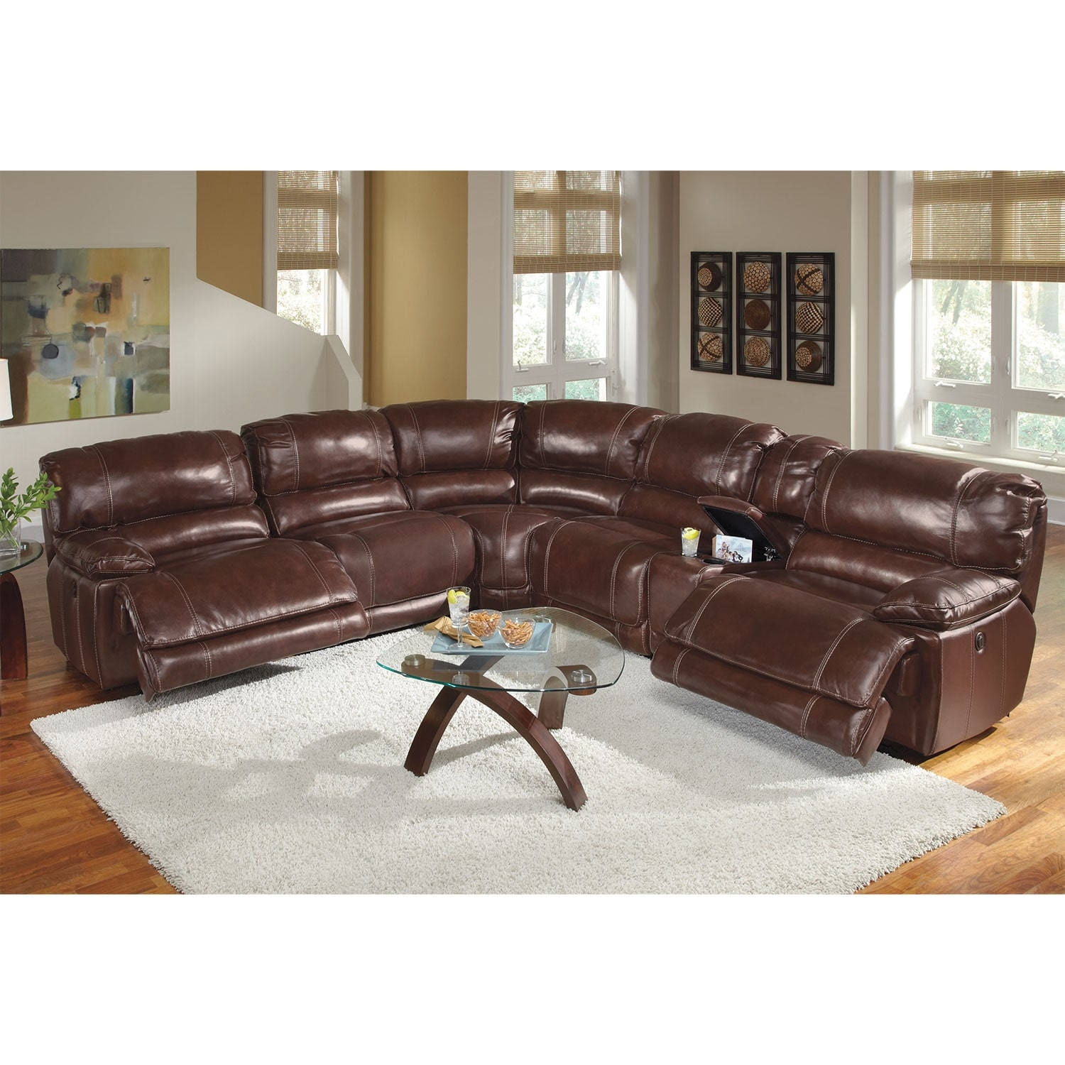 St Malo 6 Piece Power Reclining Sectional with Modular Console