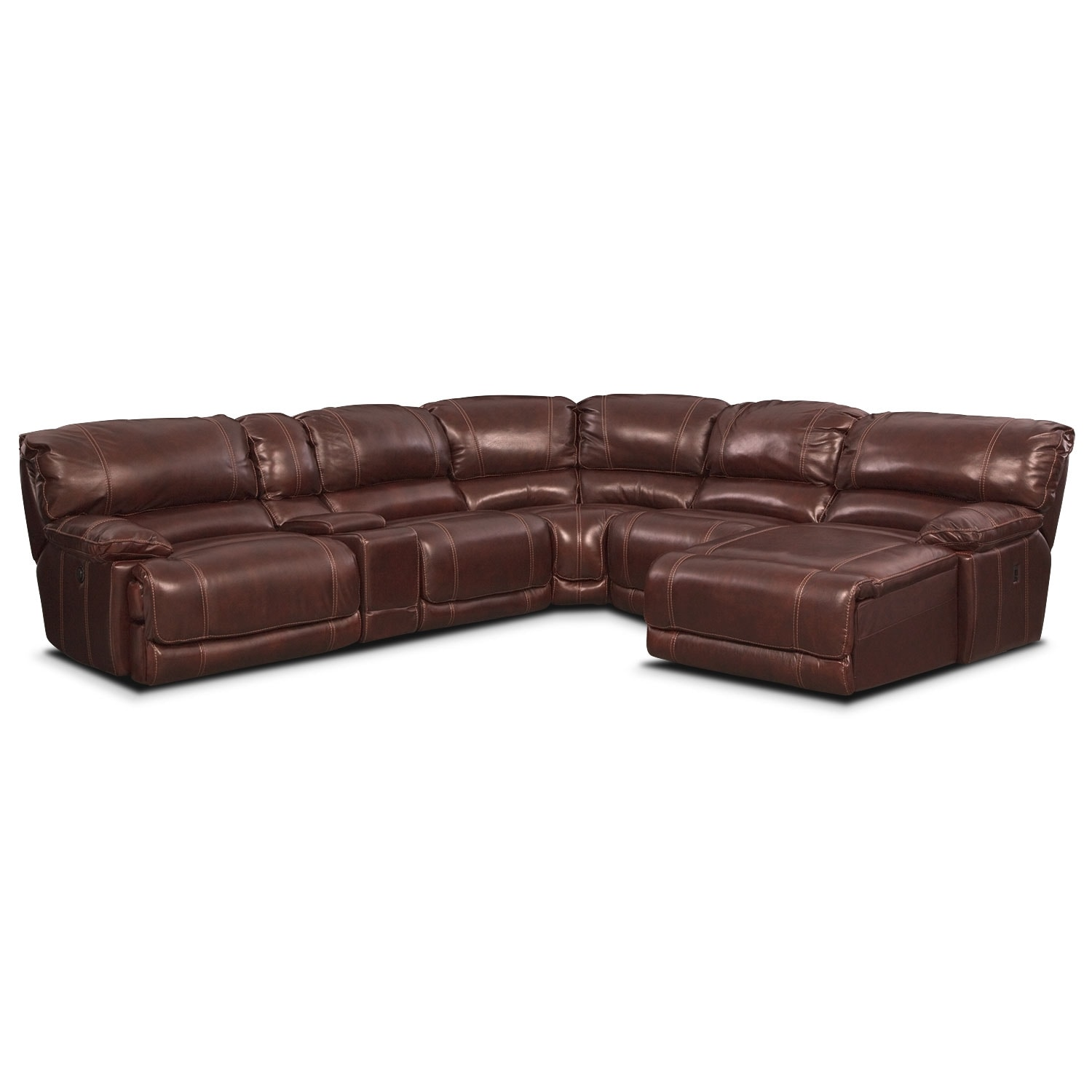 Living Room Furniture - St. Malo III 6 Pc. Power Reclining Sectional