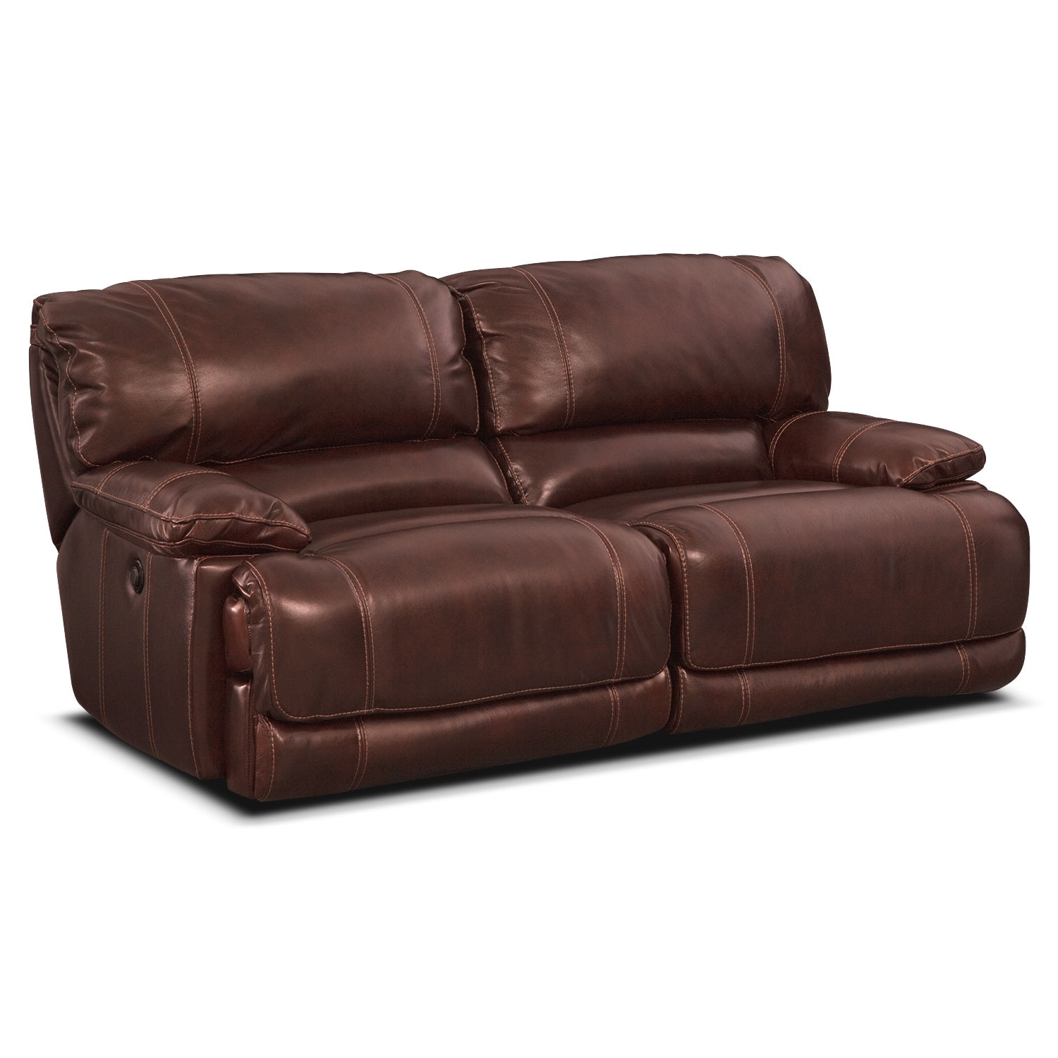 St malo power reclining sofa burgundy american for Signature furniture