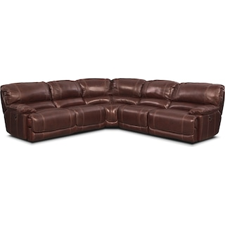 St. Malo 5-Piece Power Reclining Sectional - Burgundy