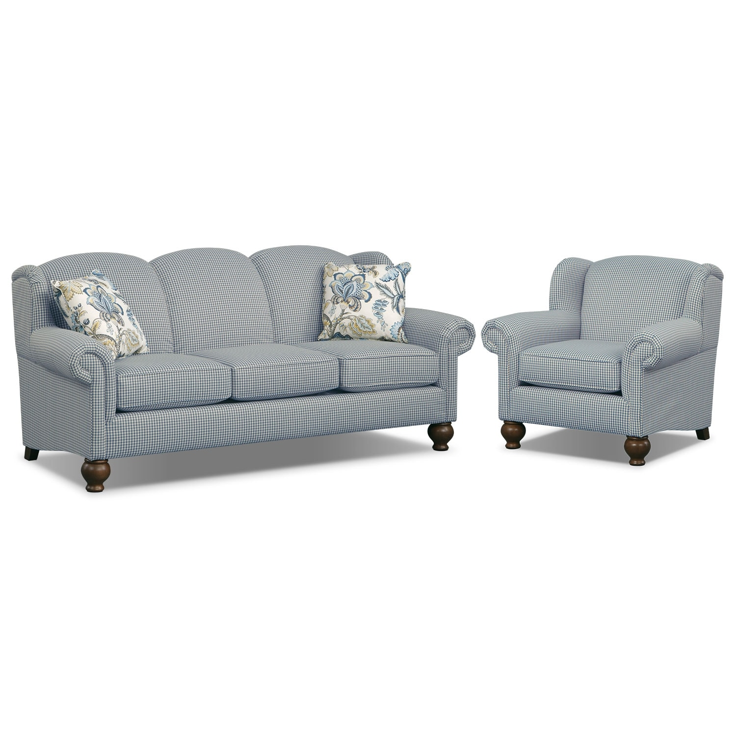 Living Room Furniture - Charlotte III 2 Pc. Living Room w/Chair